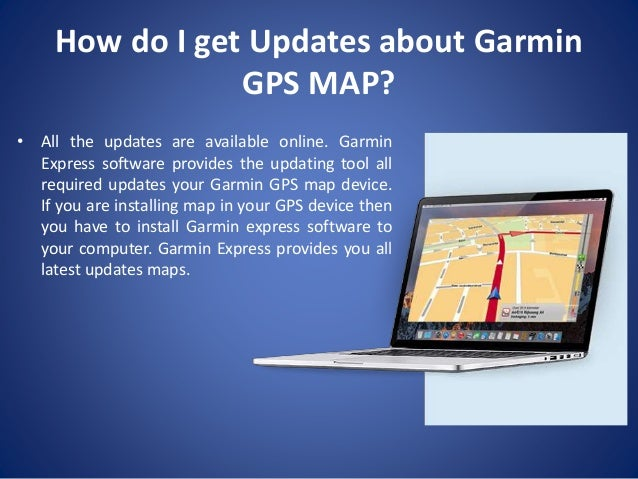 Garmin GPS Map Updates on