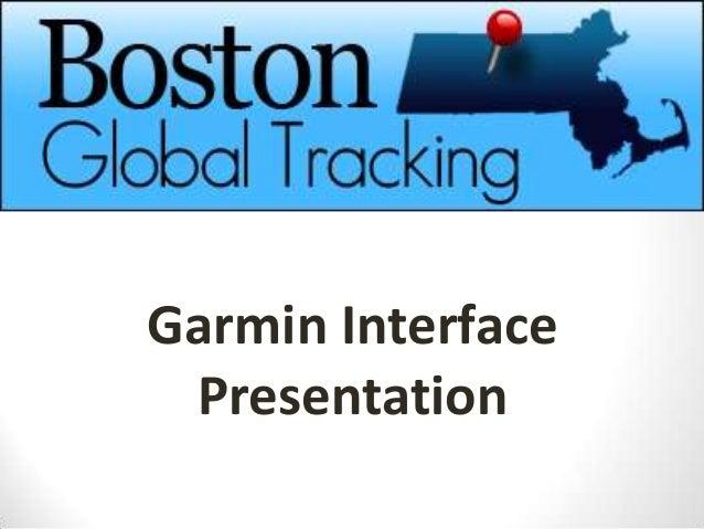 Garmin Interface Presentation