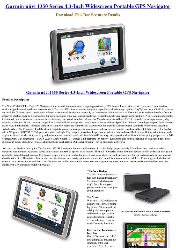 Garminnüvi1350Series4.3-Inch Widescreen Portable GPS Navigator                                                      Do...