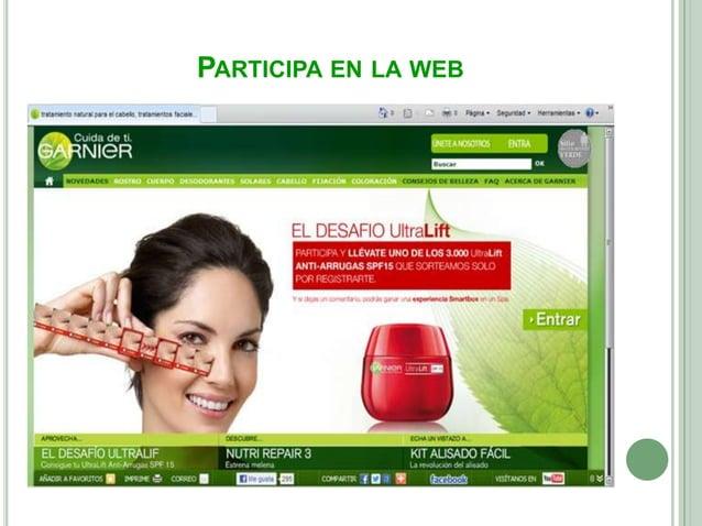 CONTÁCTANOS GARNIERPara cualquier pregunta, más información sobrelos productos o sobre los ingredientesde los productos, G...