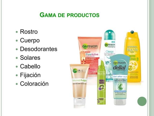 GAMA DE PRODUCTOS   Rostro   Cuerpo   Desodorantes   Solares   Cabello   Fijación   Coloración