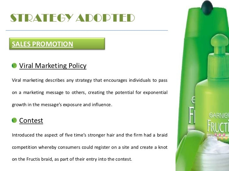 garnier fructis direct marketing The table above concludes the garnier fructis swot analysis along with its marketing and brand parameters.