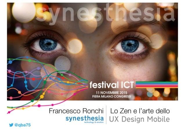 GRAZIE! Francesco Ronchi - Synesthesia srl Sede Legale: C.so Galileo Ferraris 110, 10129 Torino Sede Operativa: Via Amed...