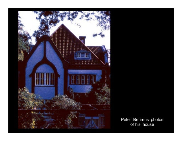 Peter Behrens Photos Of His House; 10.