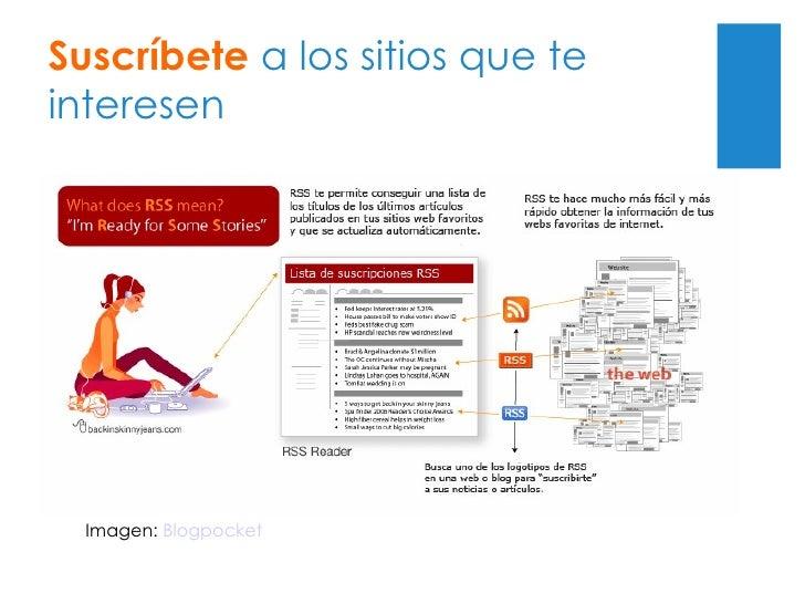 Suscríbete  a los sitios que te interesen Imagen:  Blogpocket