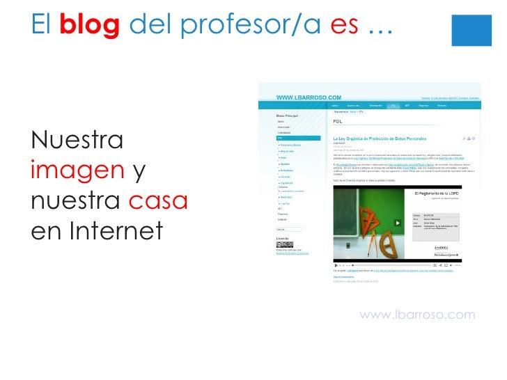 El  blog  del profesor/a  es  … Nuestra  imagen  y nuestra  casa  en Internet www.lbarroso.com