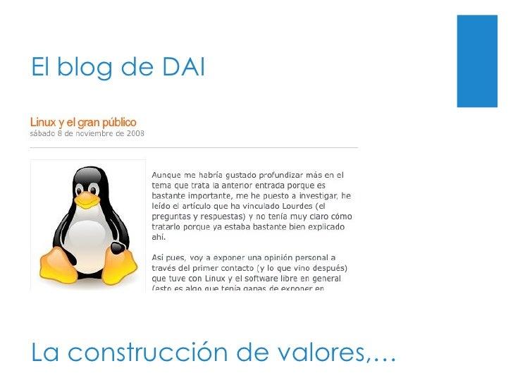 El blog de DAI La construcción de valores,…