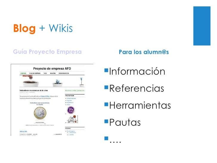 Blog + Wikis Guía Proyecto Empresa Wikis de proyectos