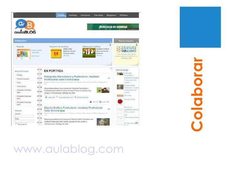 www.aulablog.com Colaborar