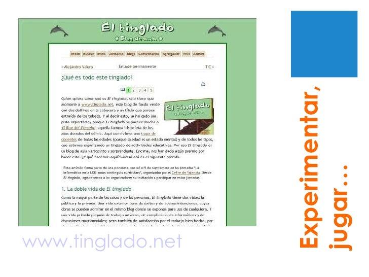 www.tinglado.net Experimentar, jugar…