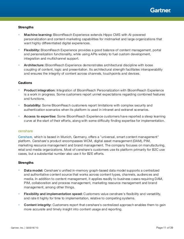 Gartner Digital Experience Platforms Mq Q118