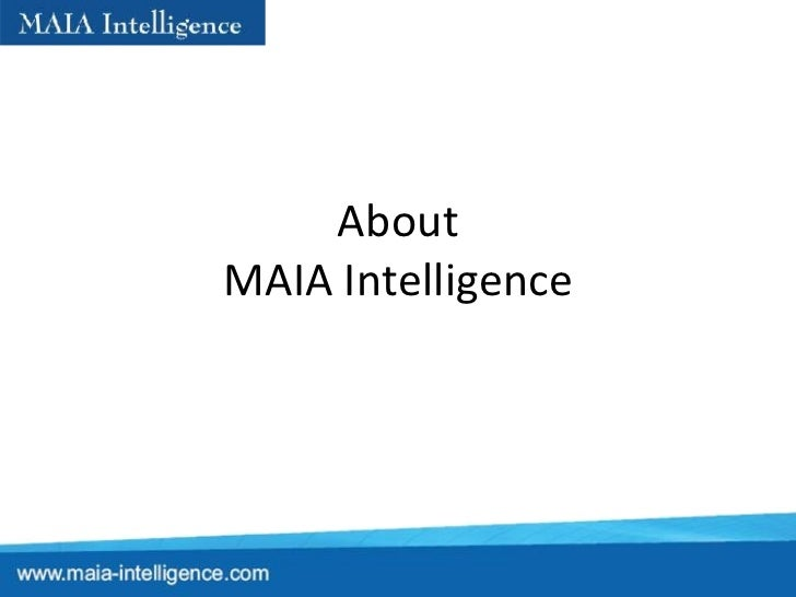 About MAIA Intelligence