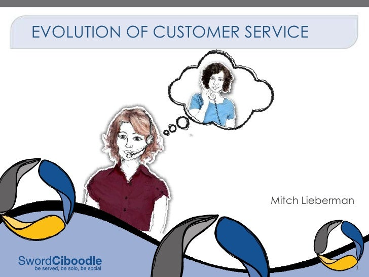 EVOLUTION OF CUSTOMER SERVICE                         Mitch Lieberman                                           1