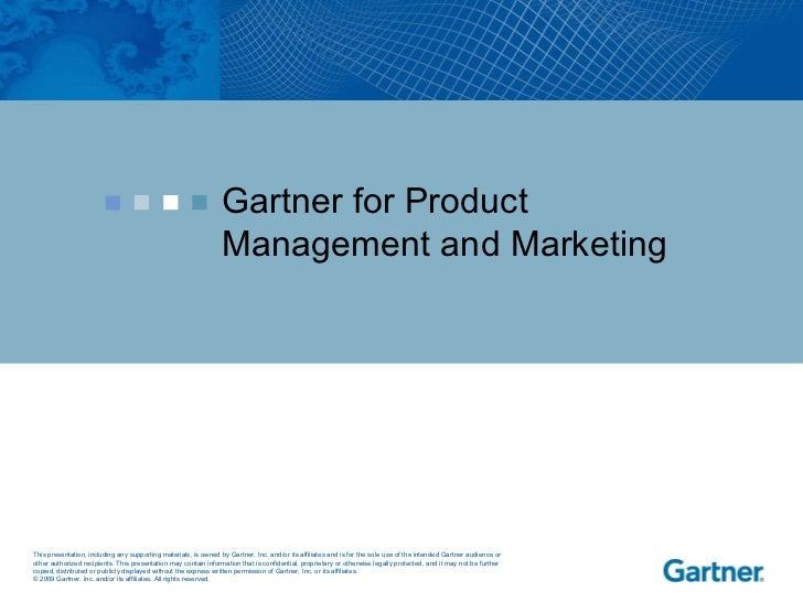 Gartner for Product Management and Marketing