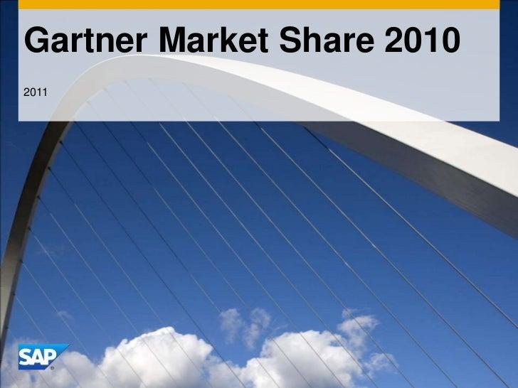 Gartner Market Share 2010<br />2011<br />