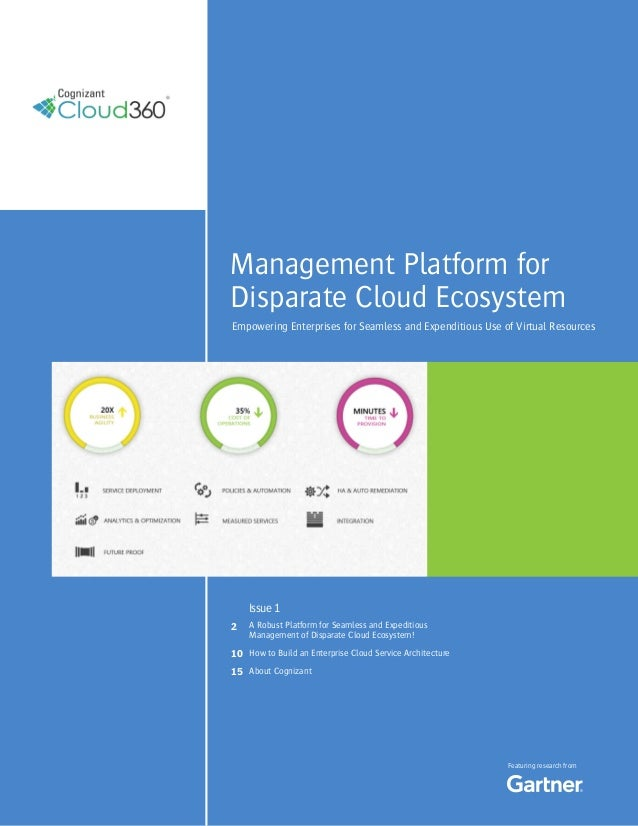 1Management Platform forDisparate Cloud EcosystemEmpowering Enterprises for Seamless and Expenditious Use of Virtual Resou...