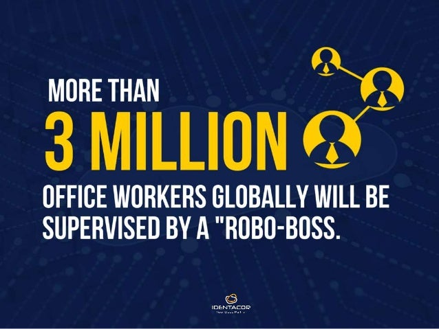 More than 3 Million office workers globally will be supervised by a 'robo-boss'.