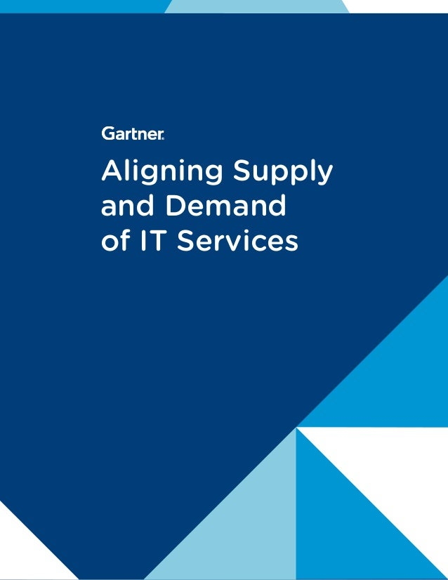 Aligning Supply and Demand of IT Services