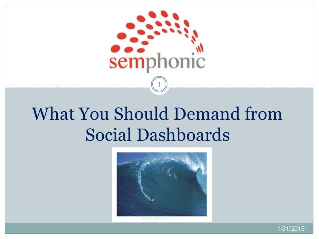 What You Should Demand from Social Dashboards 1 1/31/2015