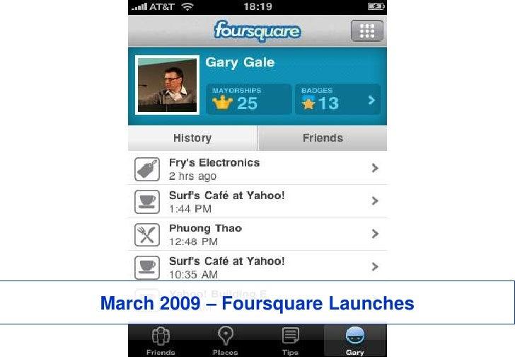 March 2009 – Foursquare Launches<br />52<br />