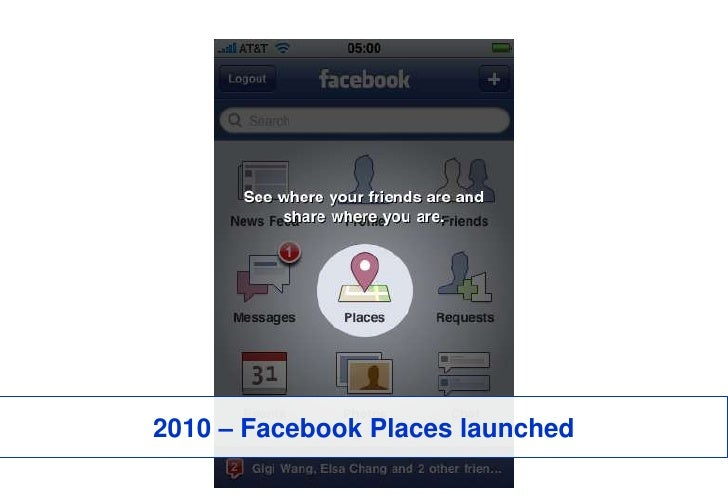 2010 – Facebook Places launched<br />