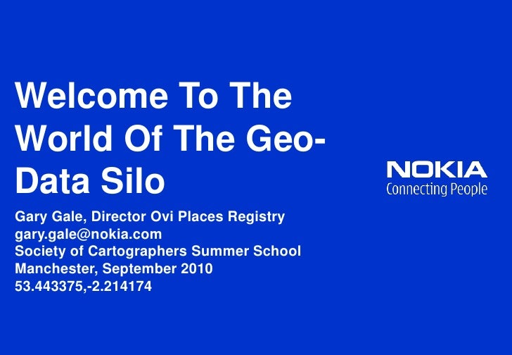 Welcome To The World Of The Geo-Data Silo
