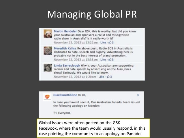 Yet with community support?  Interestingly there was criticism of GSK for responding to  the critics! And some criticism o...