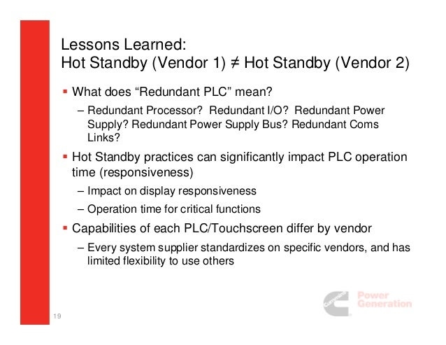 Evaluation Of Standby Power System Architectures
