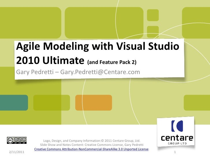 Agile Modeling  using the Architecture Tools in VS 2010