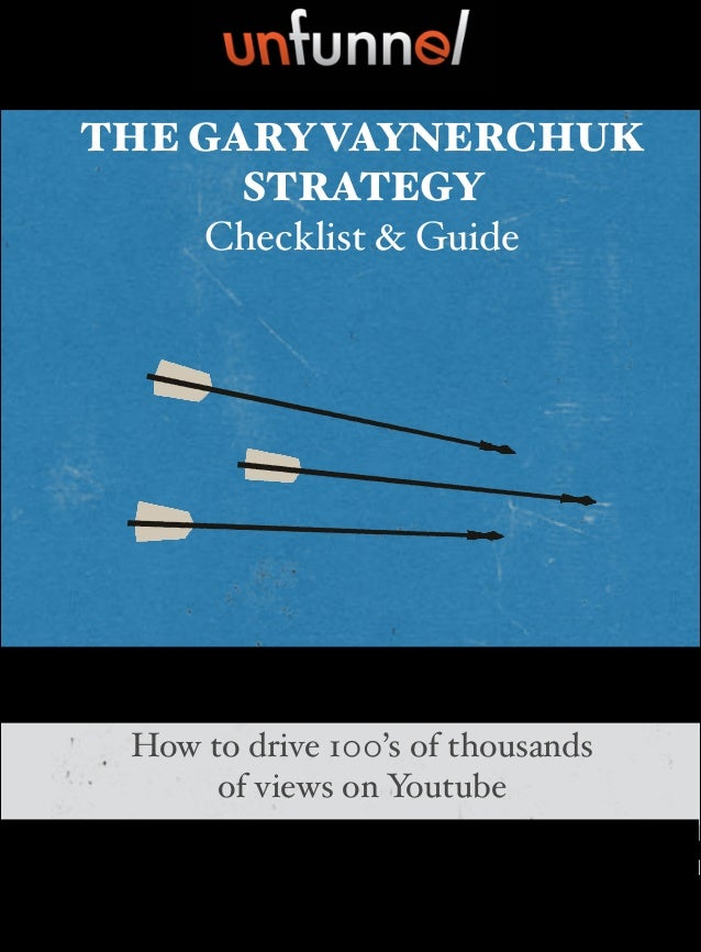 THE GARYVAYNERCHUK STRATEGY Checklist & Guide By: Bryan Harris How to drive 100's of thousands ! of views on Youtube