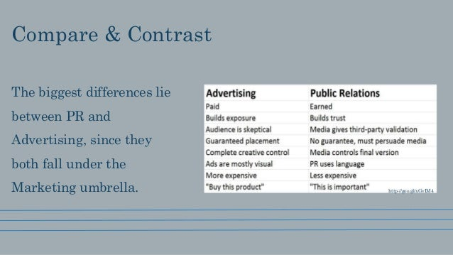 compare and contrast ads