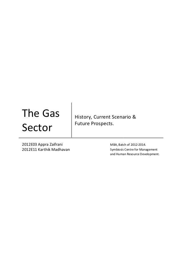 The Gas                    History, Current Scenario &                           Future Prospects.Sector2012E03 Appra Zaif...