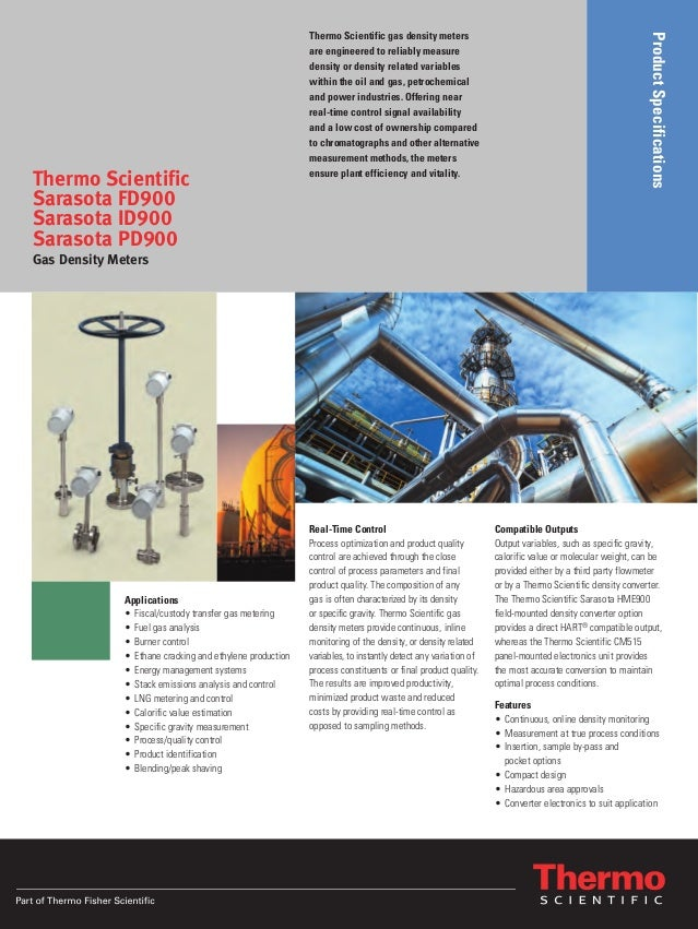 ProductSpecifications Thermo Scientific gas density meters are engineered to reliably measure density or density related v...