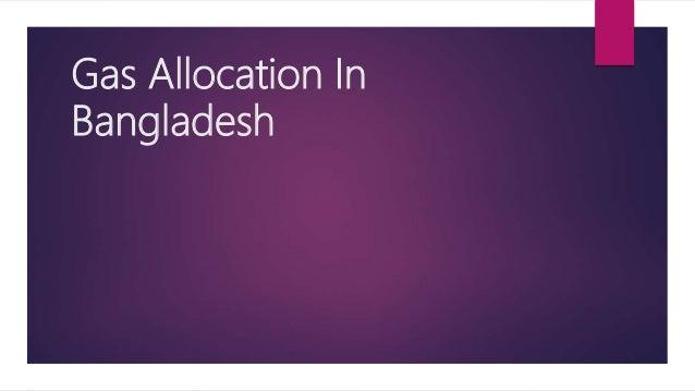 Gas Allocation In Bangladesh