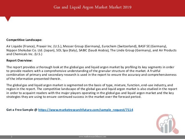 Gas and Liquid Argon Market Research Report - Forecast to 2023