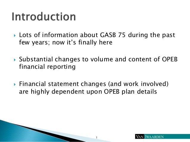 GASB 75 Implementation Issues Slide 2