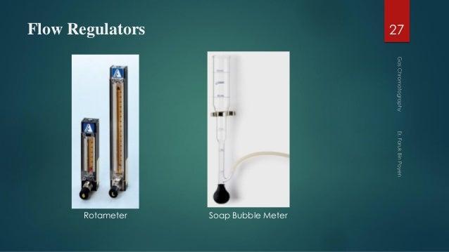Flow Regulators 27 Rotameter Soap Bubble Meter