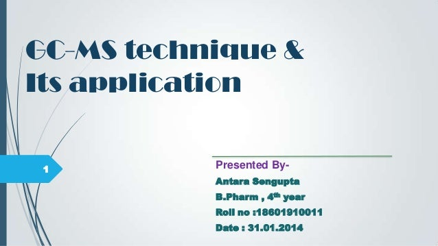 Applications of gas liquid chromatography ppt