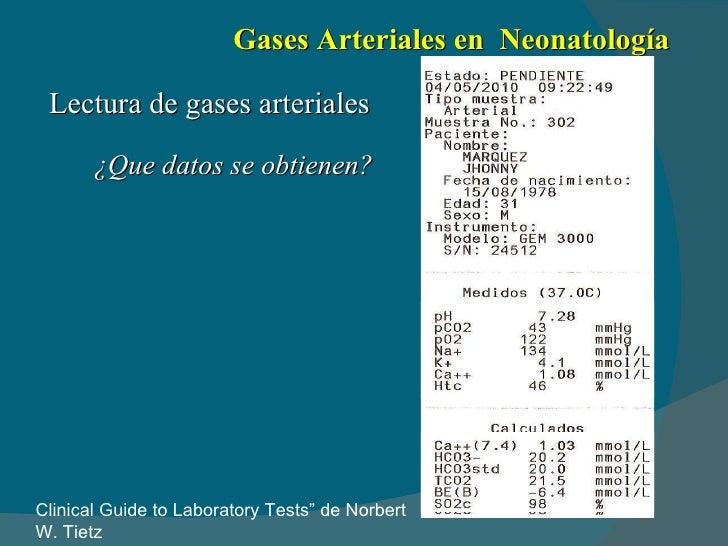 Gasometria arterial interpretacion