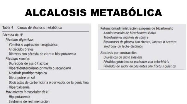 ALCALOSIS METABÓLICA CLINICA DIAGNOSTICO TRATAMIENTO •Una eventual deshidratación o hipopotasemia. •La afectación neurológ...