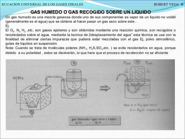 Ley de recogida de gases sobre agua