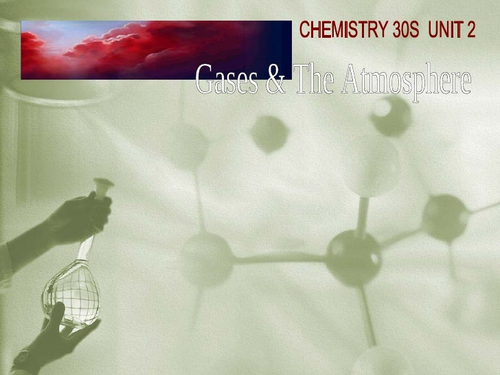 Gases & The Atmosphere CHEMISTRY 30S  UNIT 2