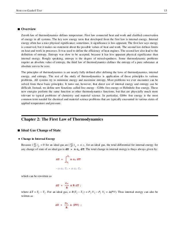 Gaskell Thermodynamics Pdf