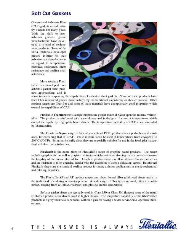 Gasket design criteria