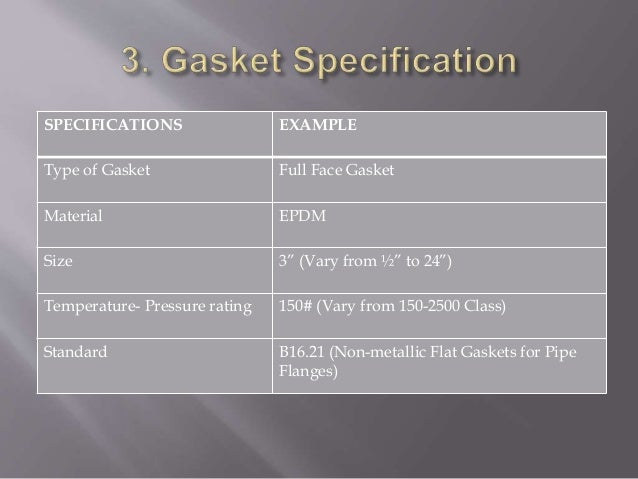 Gasket selection and installation