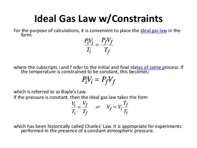 discussion for gas law experiment 13 - 3 experiment 13: the ideal gas law and the molecular weight of gases introduction the ideal gas law states that pv.