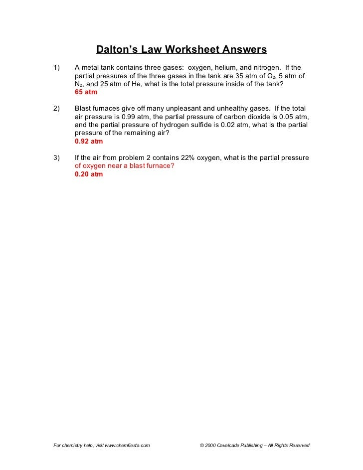 Gas law packet answers – Gas Law Problems Worksheet