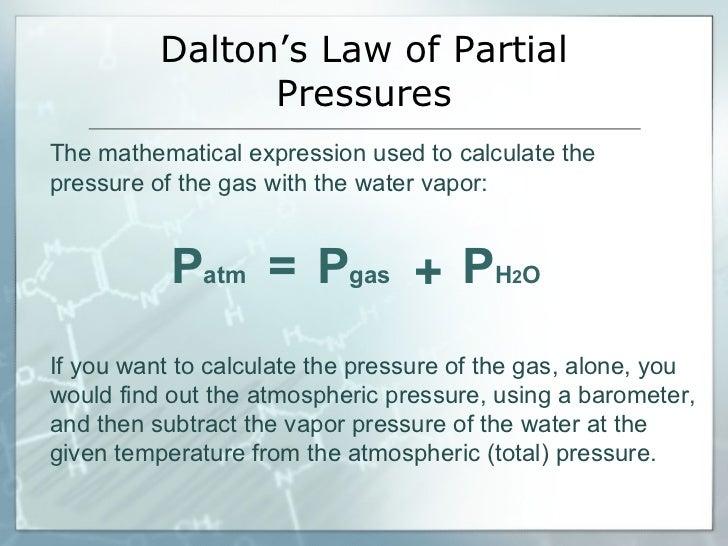 33  dalton's law
