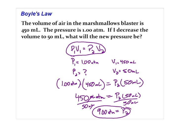 Ideal Gas Sample Problems