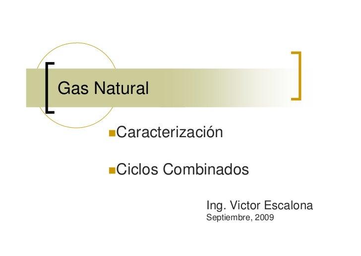 Gas Natural         Caracterización         Ciclos Combinados                     Ing. Victor Escalona                    ...